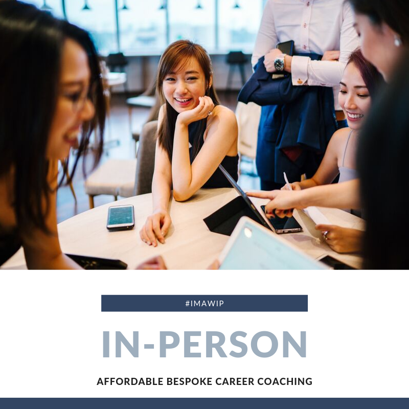 In-Person Career Coaching Pack.  Work with a coach, mentors and a group who will keep you accountable to your goals.